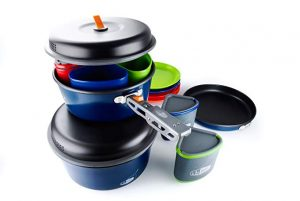 Camping Equipment, Wuudi Outdoor Camping Pots And Pans Set 2PCS Camping Cookware
