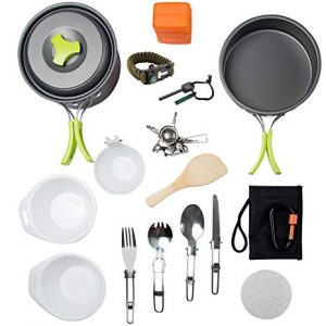 MalloMe Camping Cookware best backpacking mess kit