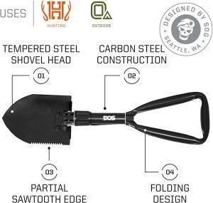 SOG Folding Shovel