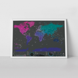 'Color the World' – Personalized Scratch Off Travel Map